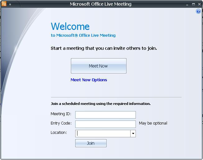 Подключение к web конференции Live Meeting
