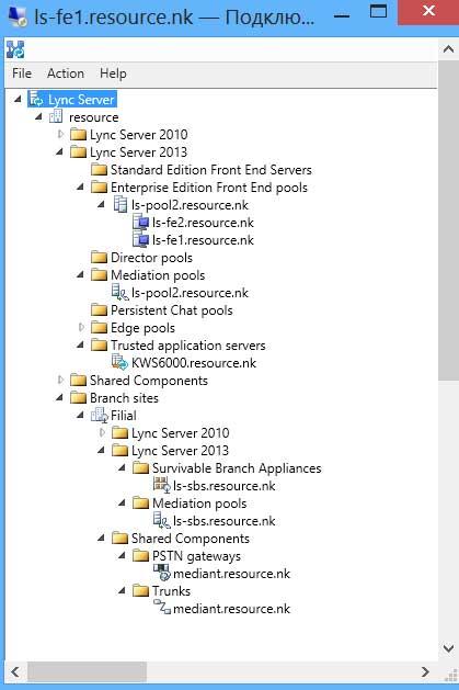 SBS в топологии Lync Server 2013